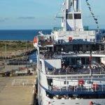 Ship docked at Adelaide cruise terminal