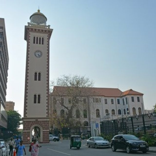 Old Colombo lighthouse and clock tower