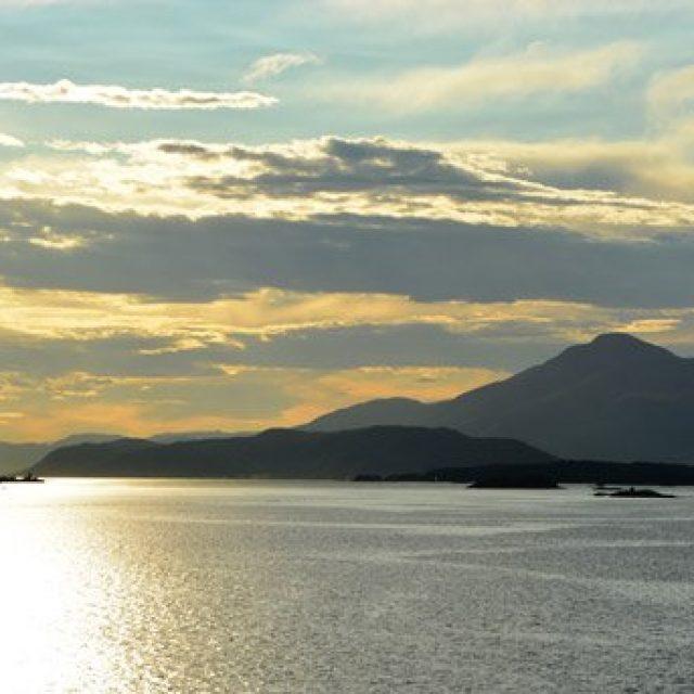 Scenic cruising Romsdalfjorden