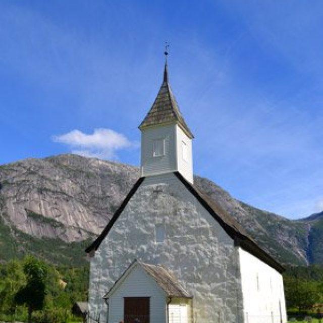 The old Eidfjord church